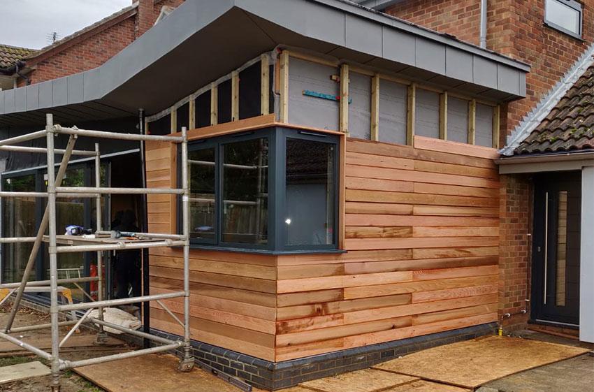 Cedar Cladding 3, ELC Roofing, Sudbury, Ipswich, Saffron Walden