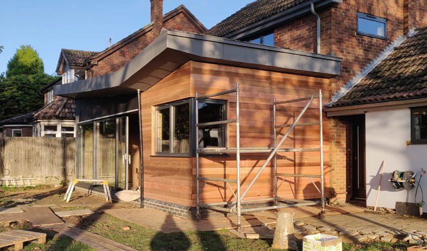Cedar Cladding 5, ELC Roofing, Sudbury, Ipswich, Saffron Walden