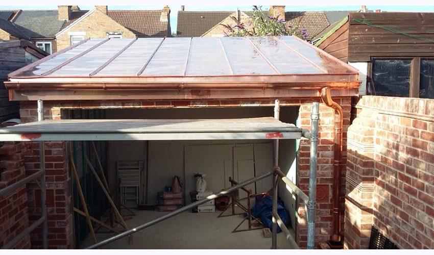 copper flat roof