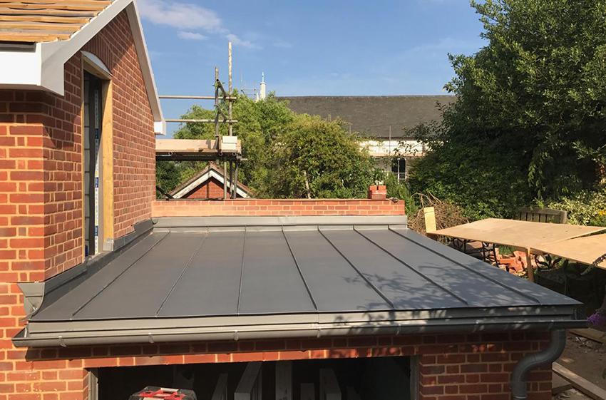 flat zinc roof repair in halstead
